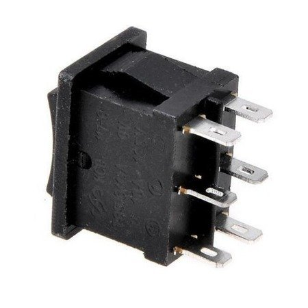 Przełącznik kołyskowy KCD1-203  - przełącznik ON/OFF/ON - 220V - 6 PIN