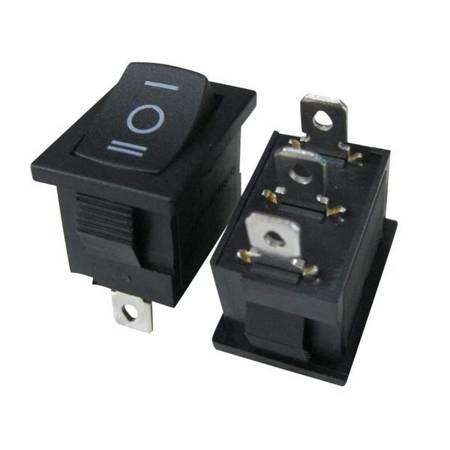 Przełącznik kołyskowy KCD1 - przełącznik ON/OFF/ON - 230V - 3 PIN