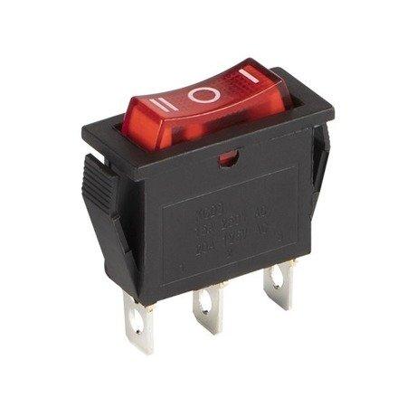 Przełącznik kołyskowy bistabilny KCD3 3-pozycyjny IRS-103-3C - ON/OFF/ON 15A- 230V - 3 PIN