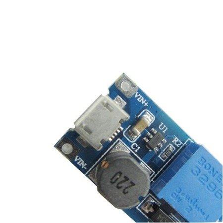 Przetwornica LM2577 2A z USB - STEP-UP - napięcie regulowane 5-28V