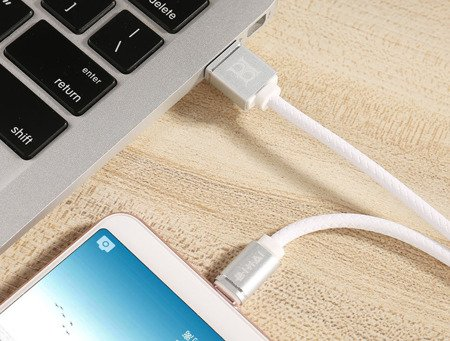 Przewód USB - Micro USB - 2.4A - High-Quality BIHAI - 100cm -