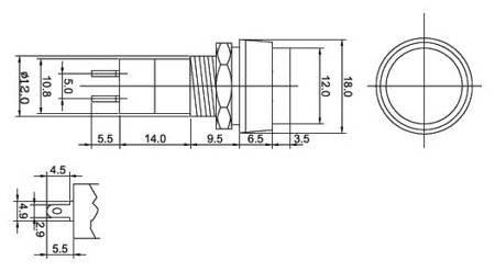 Przycisk PBS-11A - 250V 3A - bistabilny - okrągły - zielony