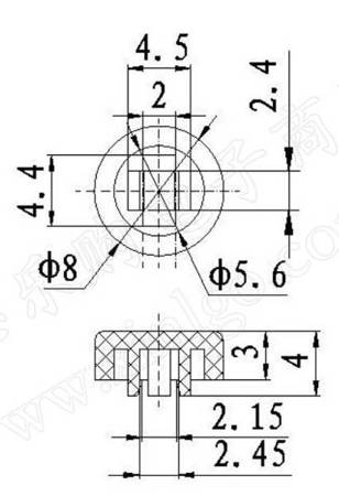 Przycisk na przełącznik Mikrostyk TACT 6x6x7.3mm - mikroswitch - 10 szt