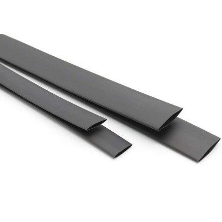 Rurka Termokurczliwa Ø20mm 1mb - czarna - elastyczna - silikonowa