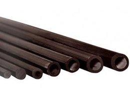 Rurka szklano-poliestrowa 6,0/4,0mm  - 1mb czarna
