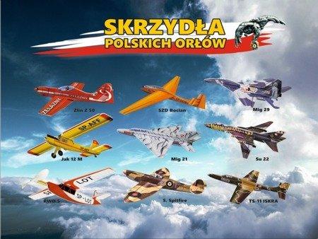 Samolot rzutek - BOCIAN 870mm - model dla dzieci