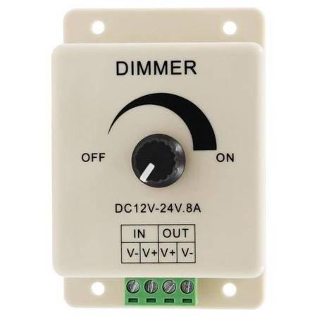 Ściemniacz do taśm LED - DIMMER - 12-24V DC 8A - manualny sterownik