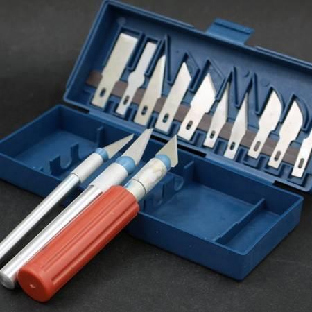 Skalpele, nożyki modelarskie - zestaw 13-ostrzy i 3-uchwytów