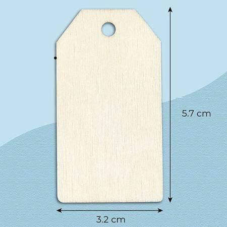 Sklejka Etykieta 57x32mm - Przywieszka do rzeźbienia i malowania - Formatka