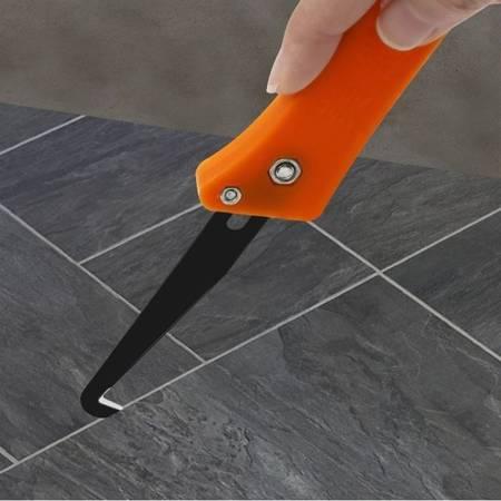 Skrobak do usuwania fugi w płytkach - nóż hakowy do czyszczenia szczelin