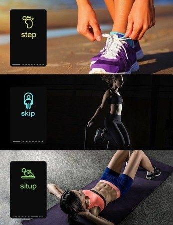 Smartband M3plus - Opaska sportowa - Fitness - tętno, kalorie, krokomierz