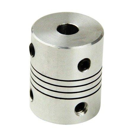 Sprzęgło elastyczne 5/10 mm - sprzęgło aluminiowe do drukarki 3D