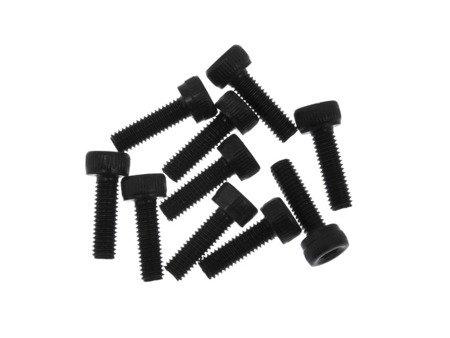 Śruba Socket M2,5x10 - 10 szt - pod klucz imbusowy - moletowana główka