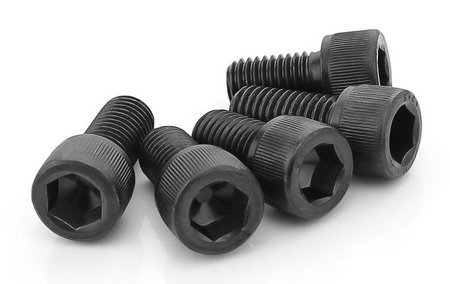 Śruba Socket M3x12 - 10 szt - pod klucz imbusowy - moletowana główka