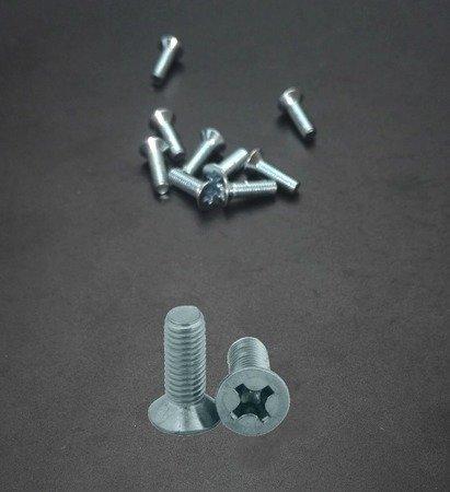Śruba stożek M3x10 - do metalu - metryczna- 10 szt