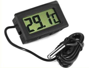 Termometr LCD z sondą w obudowie (-50C do 110C) - bez baterii