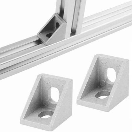Uchwyt narożny 20x20mm do profili aluminiowych 2020 - TSLOT, T-NUT, TNUT