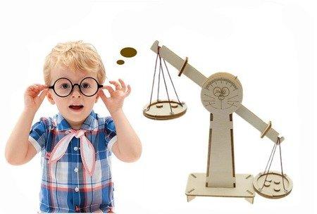 Waga szalkowa drewniana dla dzieci - DIY - równoważnia - Zabawka edukacyjna