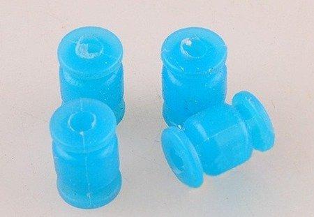 Wibroizolator 13mm/9mm - silikonowy - żółty - tłumik drgań, damper, amortyzator - 1 szt