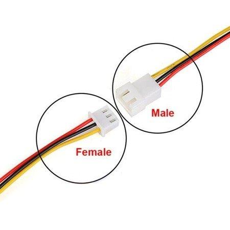 Wtyk Micro JST z przewodem 100mm - 3 PIN raster 1.25 - MCX - męski (male)