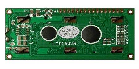 Wyświetlacz LCD 2x16 HD44780 - Yellow - alfanumeryczny LCD QC1602B