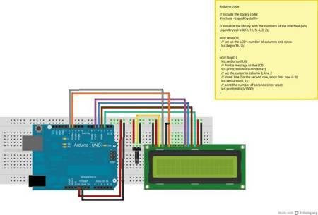 Wyświetlacz LCD 2x16 niebieski ze sterownikiem HD44780 - QC1602A