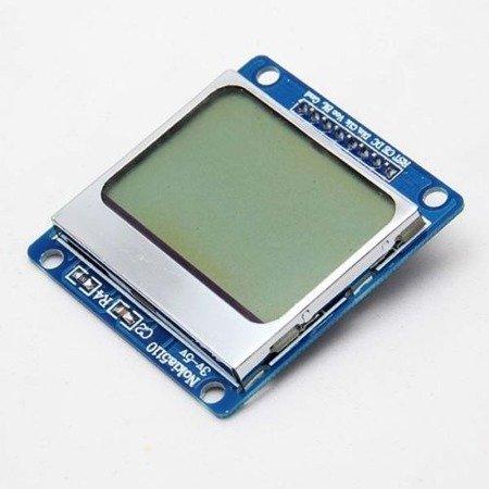 Wyświetlacz graficzny 84x48 LCD - NOKIA 5110/3310 - zgodny z PCD8544
