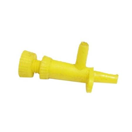 Zawór dwukierunkowy z regulacją przepływu powietrza - na wąż 6x6mm - Zaworek z mocowaniem