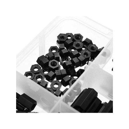 Zestaw 180 sztuk Śrub i Tulei Dystansowych M3 - 6/8/10/12/15/20 mm - Poliamid