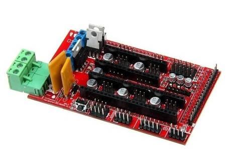 Zestaw elektroniki Reprap RAMPS + MEGA2560 CH340 R3 + A4988 4szt - Drukarka 3D