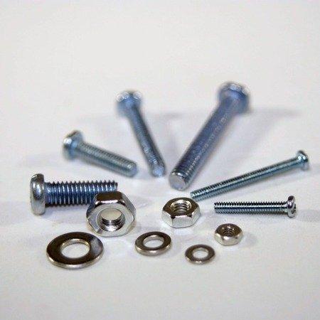 Zestaw śrubki/ podkładki/ nakrętki - M2/ M3/ M4 - 330 szt.