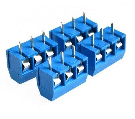 Złącze ARK 3PIN - raster 5mm - do zalutowania, druku - 10szt.