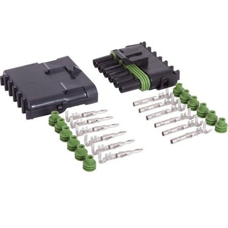 Złącze Weatherpack 6-PIN komplet - wtyk+gniazdo - złącze samochodowe - hermetyczne