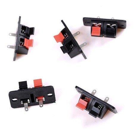 Złącze zaciskowe do głośników podwójne - szybkozłączka - gniazdo x2